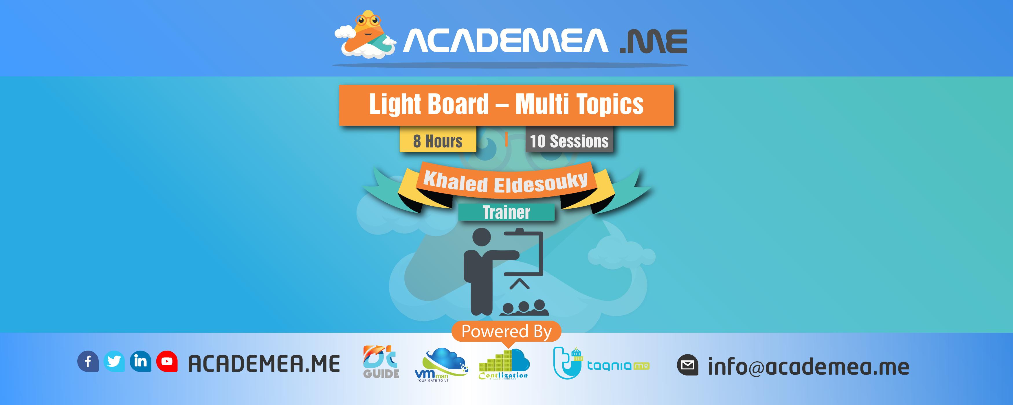 Light Board – Multi Topics